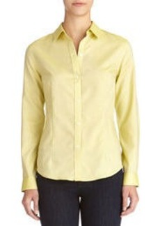 Non-Iron Easy-Care Relaxed Cotton Shirt