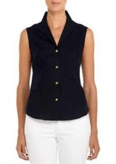 Non-Iron Easy-Care Sleeveless Fitted Shirt