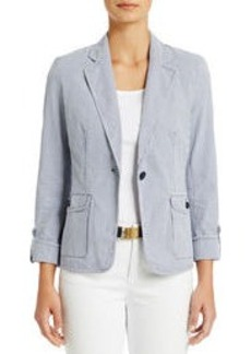 One-Button Roll Sleeve Jacket