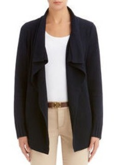 Open Front Cardigan Sweater (Plus)