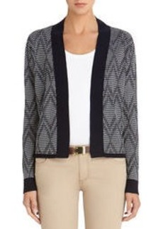 Open Front Cardigan with Bracelet Sleeves