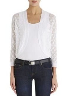 Open Shrug with 3/4 Sleeves (Plus)