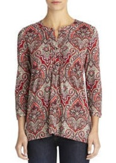 Paisley Pleat Front Henley