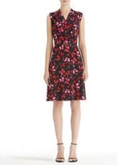 Papillon Sleeveless Belted Wrap Dress (Plus)