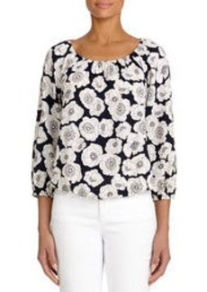 Peasant Top with Banded Waist (Petite)