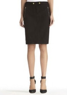 Pencil Skirt with Front Zippers (Petite)