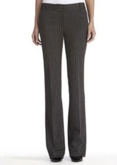 Pinstripe Ponte Knit Work Pants