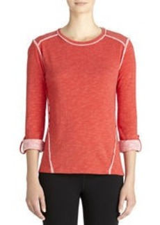 Plaited Jersey Pullover (Plus)