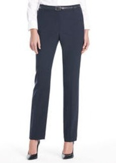 Platinum Washable Wool Pants with Flat Front