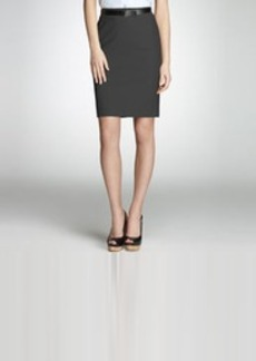 Platinum Washable Wool Pencil Skirt