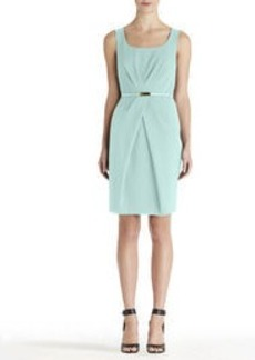 Pleat Waist Sleeveless Dress