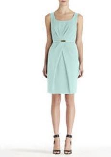Pleat Waist Sleeveless Dress
