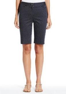 Polka Dot Stretch Cotton Bermuda Shorts