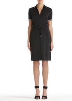 Polo Dress with Drawstring Waist