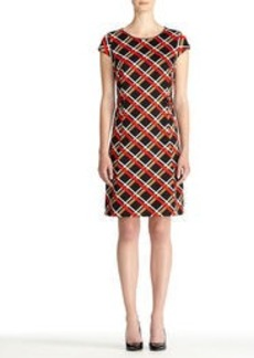 Ponte Knit Dress with Cap Sleeves