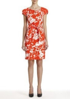 Printed Jacquard Cotton Dress (Plus)