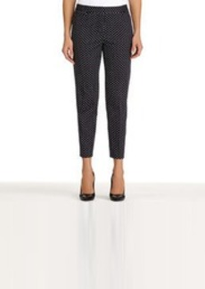 Printed Stretch Cotton Cropped Pants