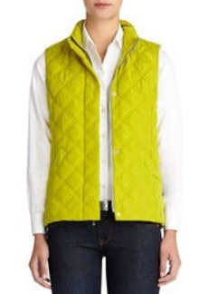 Quilted Vest with Stand Collar (Petite)