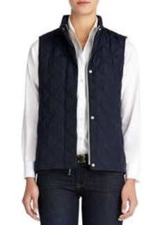 Quilted Vest with Stand Collar (Plus)