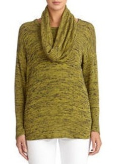 Round Neck Sweater with Detachable Scarf (Plus)