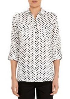 Safari Shirt with Roll Sleeves (Petite)