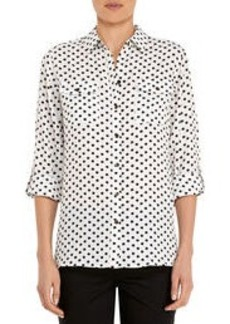 Safari Shirt with Roll Sleeves (Petite)