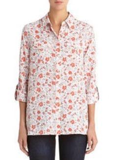 Safari Shirt with Roll Sleeves (Plus)