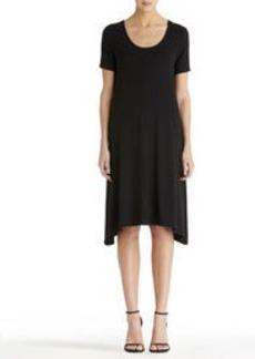 Scoop Neck Dress with Asymmetrical Hem