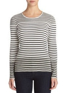 Scoop Neck Multi-Stripe Pullover