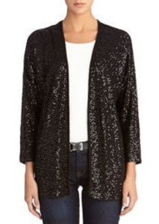 Sequin Cardigan with 3/4 Length Dolman Sleeves