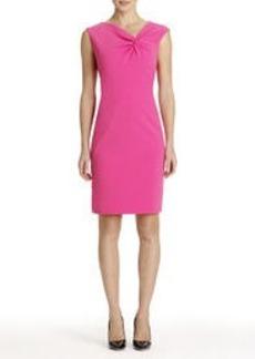 Sheath Dress with Asymmetrical Neckline