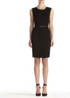 Sheath Dress with Crew Neck (Plus)