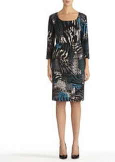 Sheath Dress with Elbow Sleeves
