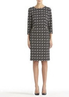 Sheath Dress with Elbow Sleeves and Zip Pockets