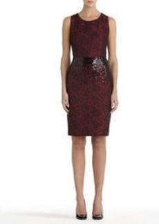 Sheath Dress with Round Neck