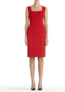 Sheath Dress with Squared Neck