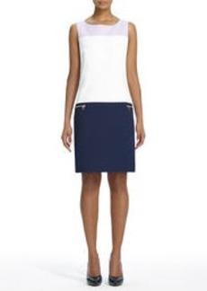 Sheath Dress with Zip Pockets