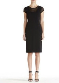 Sheer Yoke Sheath Dress