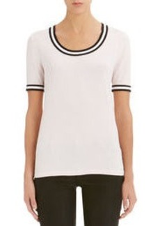 Short Sleeve Scoop Neck Tee Shirt