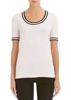 Short Sleeve Scoop Neck Tee Shirt