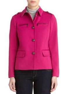 Single Breasted Jacket with Epaulets (Plus)