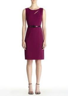 Sleeveless Asymmetric Keyhole Sheath Dress