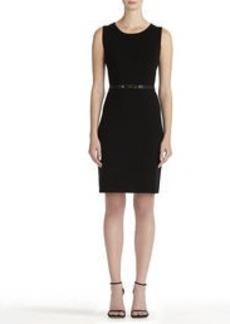 Sleeveless Black Crew Neck Dress