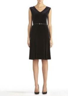 Sleeveless Black V-Neck Dress (Plus)