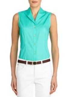Sleeveless Cotton Blouse