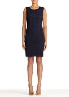 Sleeveless Cotton Crocheted Lace Sheath Dress