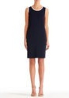 Sleeveless Crew Neck Sheath Dress