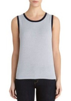 Sleeveless Crew Neck Shell