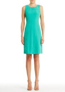 Sleeveless Dress with Round Neck (Plus)