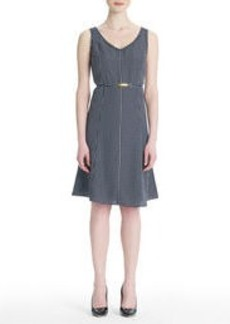 Sleeveless Dress with V-Neckline (Plus)